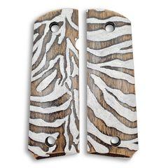 Zebra Skin - 1911 Full Size Government Grips