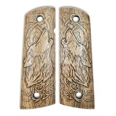 Wolves - 1911 Full Size Magwell Grips