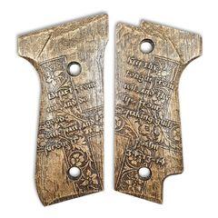 Psalm 34:13-14 - Beretta 92S Grips