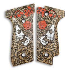 Skull Rose - Beretta 92S Grips